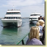 Ferries on Mackinac Island