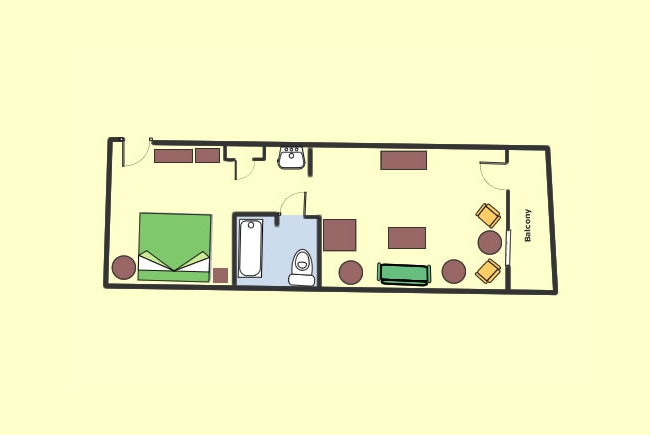 Room Layout (with King Bed Option)