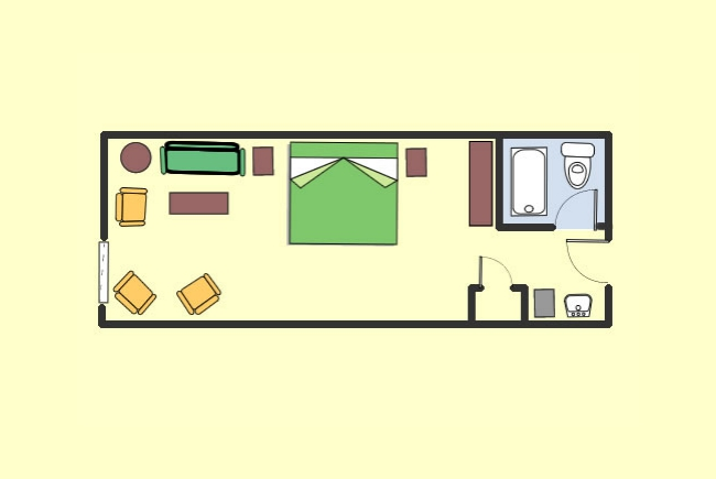 Room Layout (king bed)